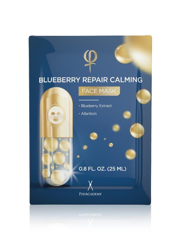 BLUEBERRY REPAIR CALMING FACE MASK 1 X 5PCS